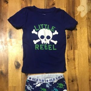 Old Navy Pajama Shorts Set 4T
